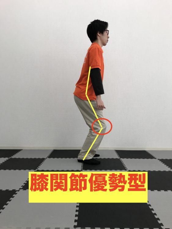 正しい身体の使い方 スクワット 膝関節優勢型