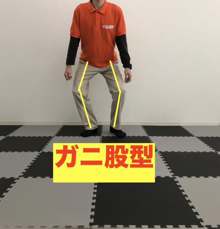 正しい身体の使い方 スクワット ガニ股型