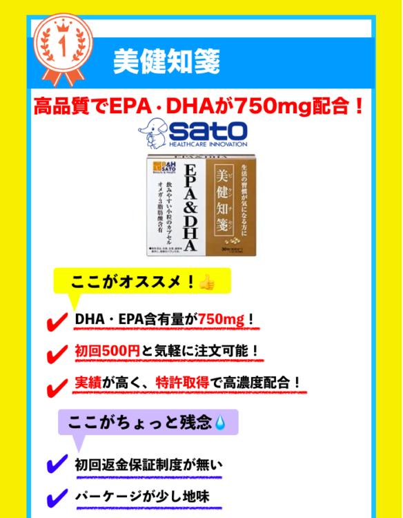 DHA・EPAサプリメントランキング5