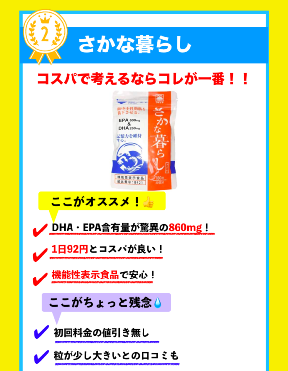 DHA・EPAサプリメントランキング4